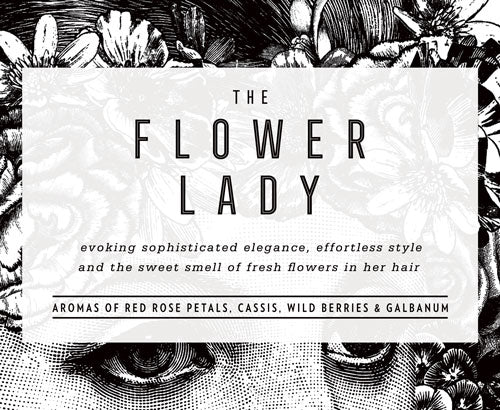 Evoking sophisticated elegance, effortless style and the sweet smell of fresh flowers in her hair.  Aromas of red rose petals, cassis, wild berries and galbanum