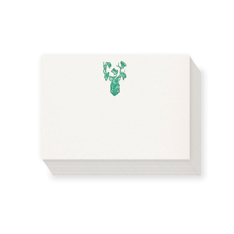 Sophisticated Stag Correspondence Cards (25 Cards) - Chase and Wonder - Proudly Made in Britain