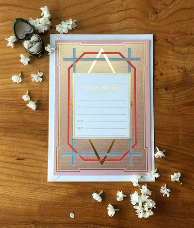 Art Deco Invitation (Pack of 10) - Chase and Wonder - Proudly Made in Britain