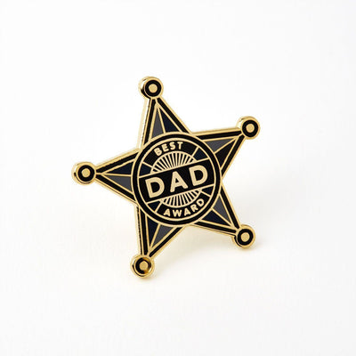 Best Dad Enameled Pin Badge - Chase and Wonder - Proudly Made in Britain