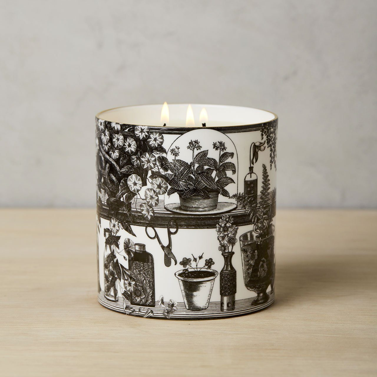 The Botanist 3 Wick Scented Ceramic Candle - Chase and Wonder - Proudly Made in Britain
