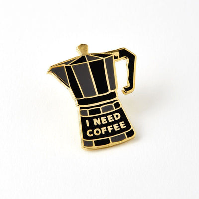 Coffee Pot Enameled Pin Badge - Chase and Wonder - Proudly Made in Britain