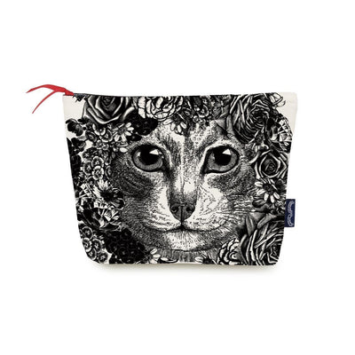 Flower Cat Wash Bag - Chase and Wonder - Proudly Made in Britain