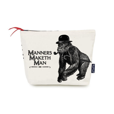 Manners Maketh Man Wash Bag - Chase and Wonder - Proudly Made in Britain