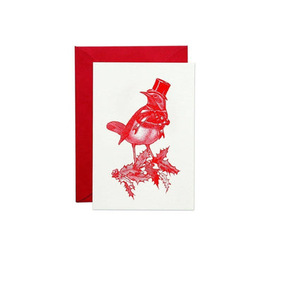 Pack of 6 Christmas Robin Greeting Cards