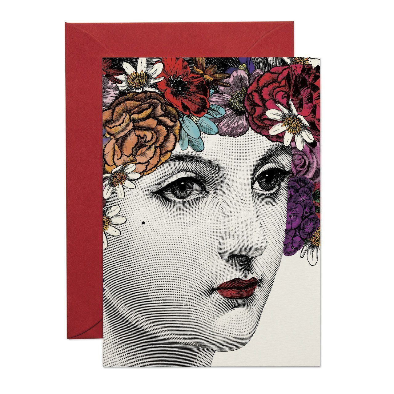 Flower Lady Greeting Card - Chase and Wonder - Proudly Made in Britain