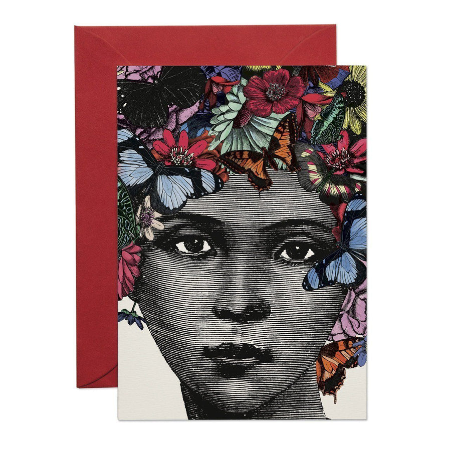 Butterfly Lady Greeting Card