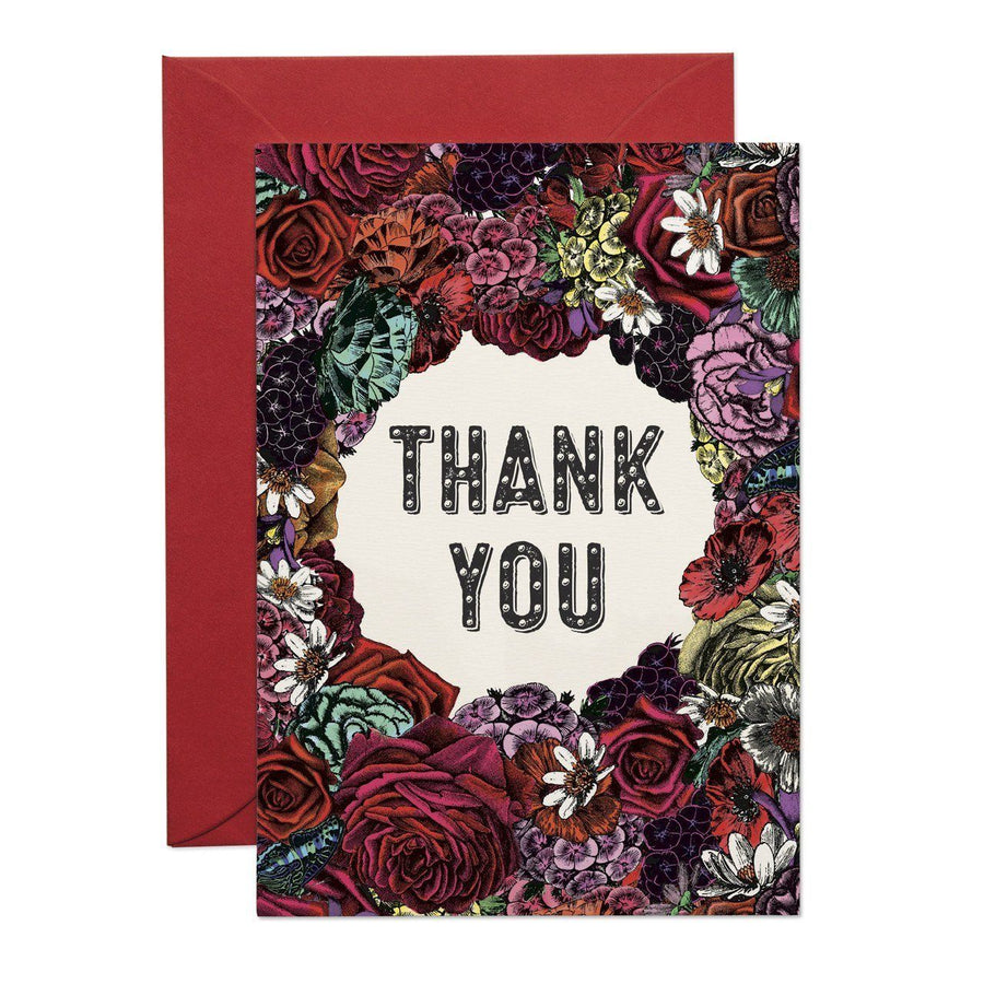 Thank You Floral Greeting Card - Chase and Wonder - Proudly Made in Britain