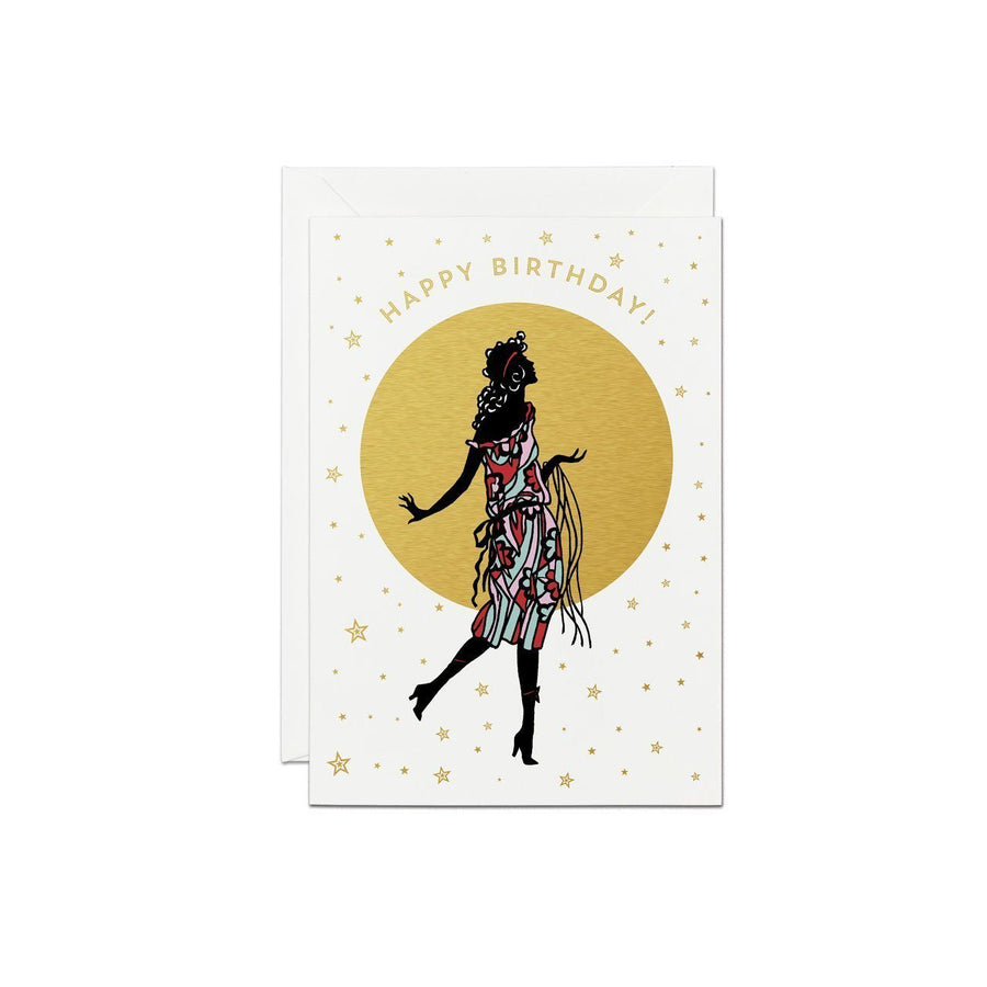 Happy BIrthday Silhouette Greeting Card - Chase and Wonder - Proudly Made in Britain