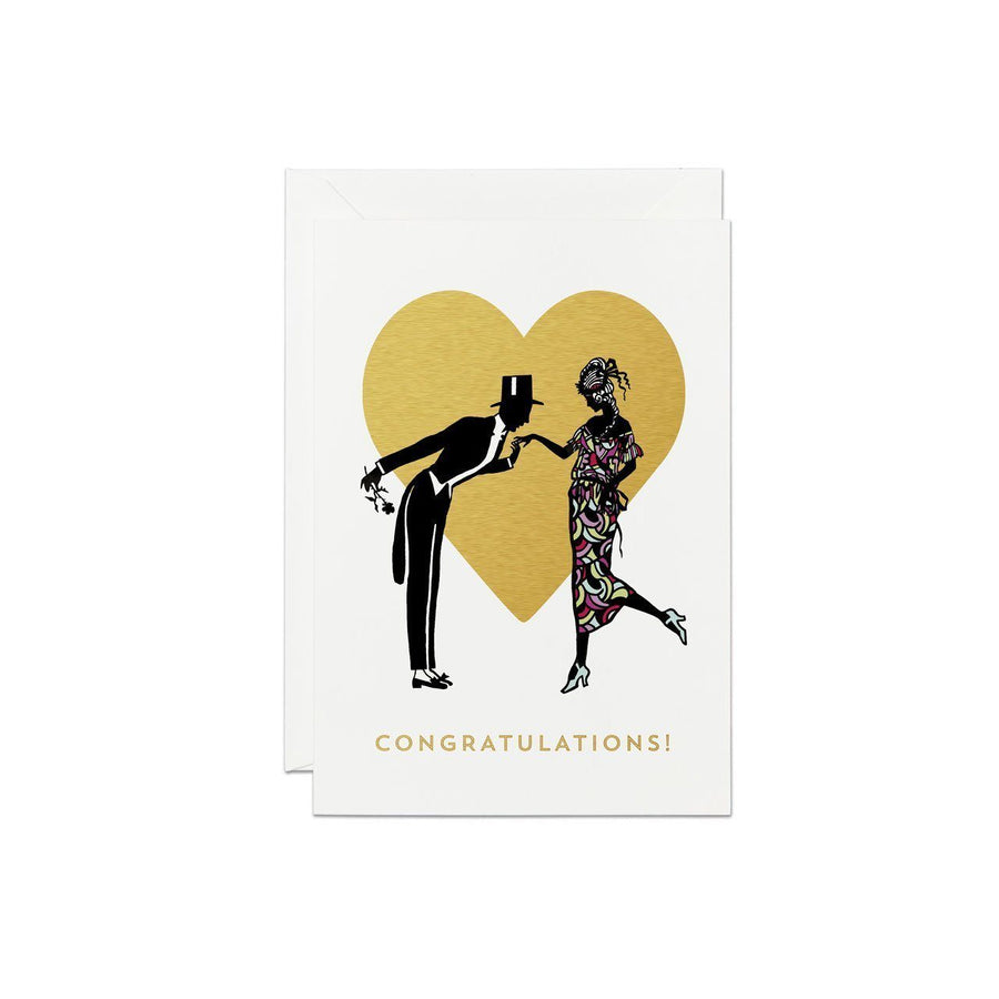 Heart Couple Silhouette Greeting Card