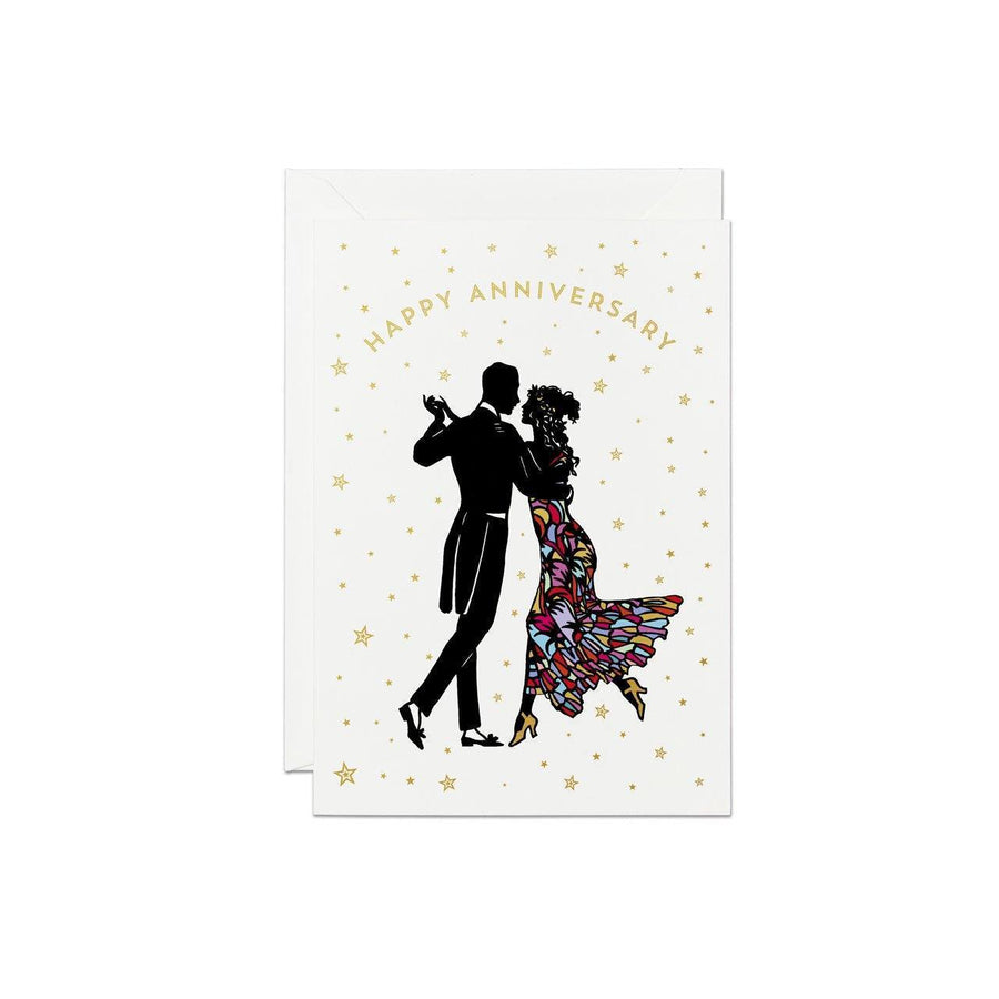 Anniversary Couple Silhouette Greeting Card