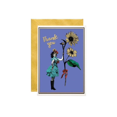 Thank You Lady Greeting Card - Chase and Wonder - Proudly Made in Britain