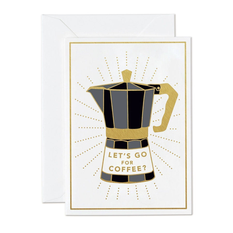 Let's Go For Coffee mini greeting card - Chase and Wonder - Proudly Made in Britain