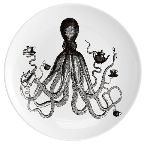 "Octopus For Tea Fine China 10"" Plate"