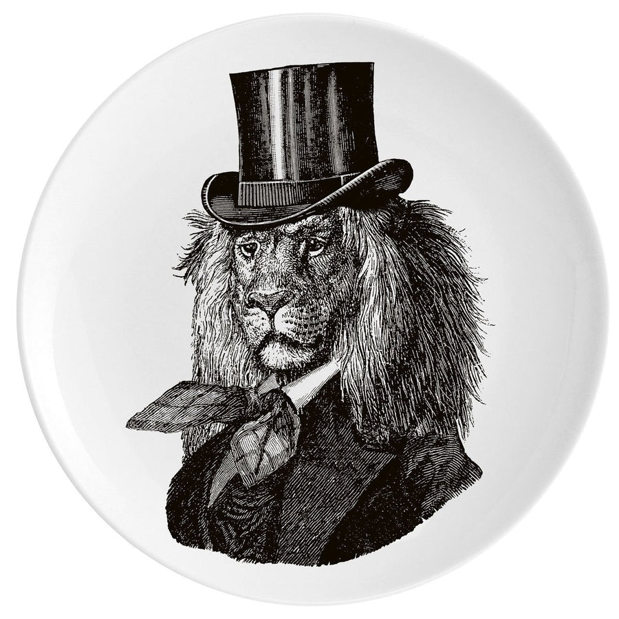 "Dandy Lion Fine China 10"" Plate - Chase and Wonder - Proudly Made in Britain"