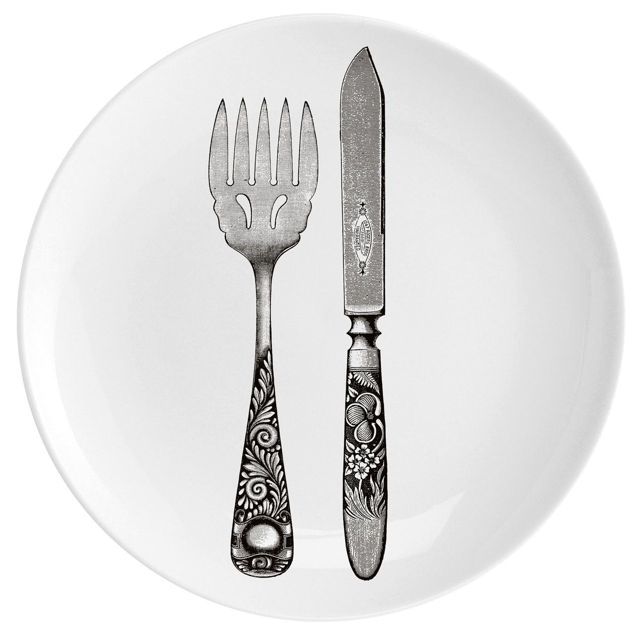 "Knife and Fork Fine China 10"" Plate"