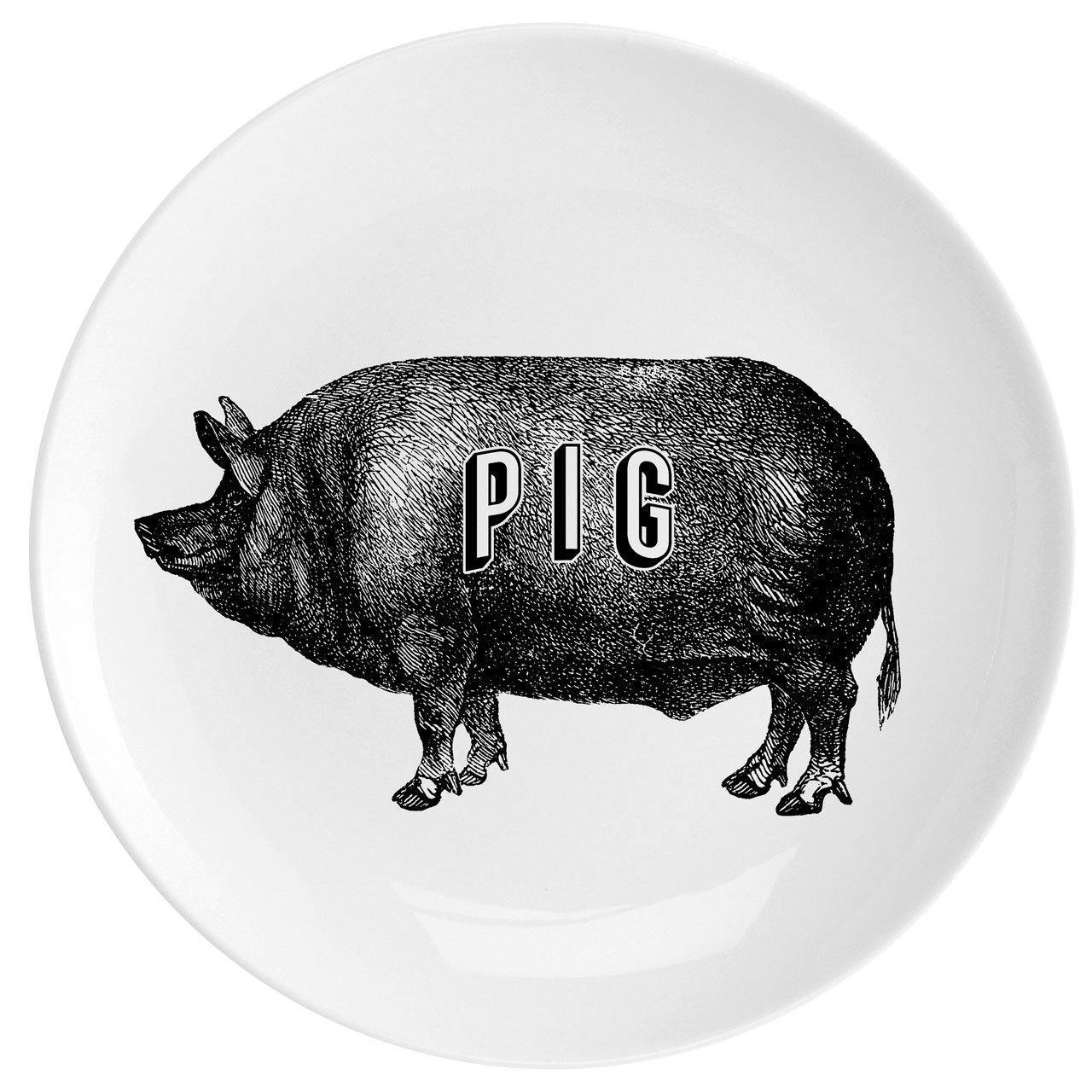 "Pig Fine China 10"" Plate"