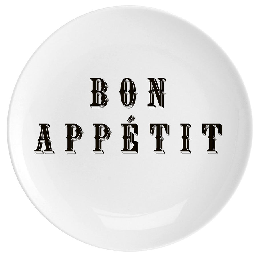 "Bon Appetit Fine China 10"" Plate - Chase and Wonder - Proudly Made in Britain"