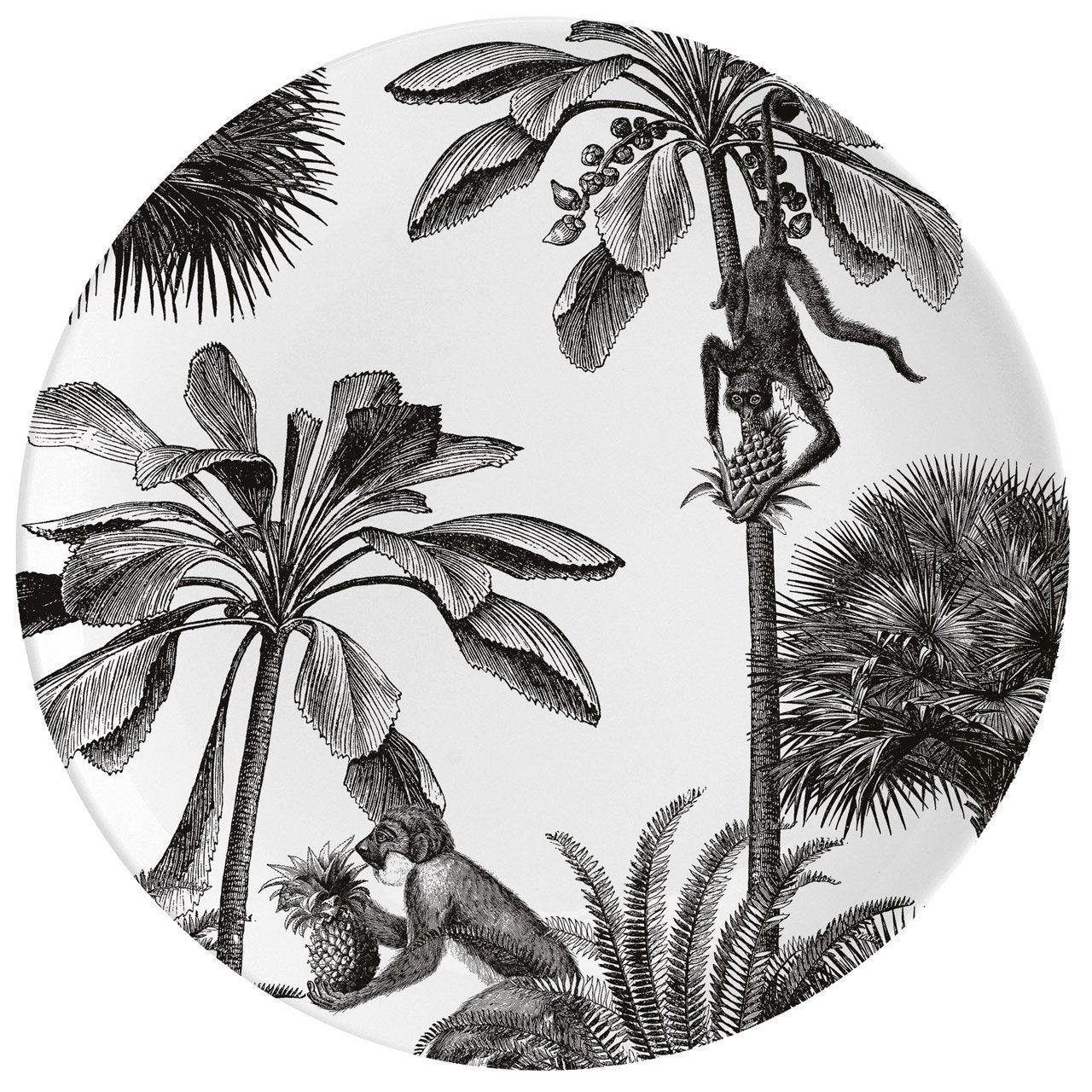 "Tropical Paradise Fine China 10"" Plate - Chase and Wonder - Proudly Made in Britain"