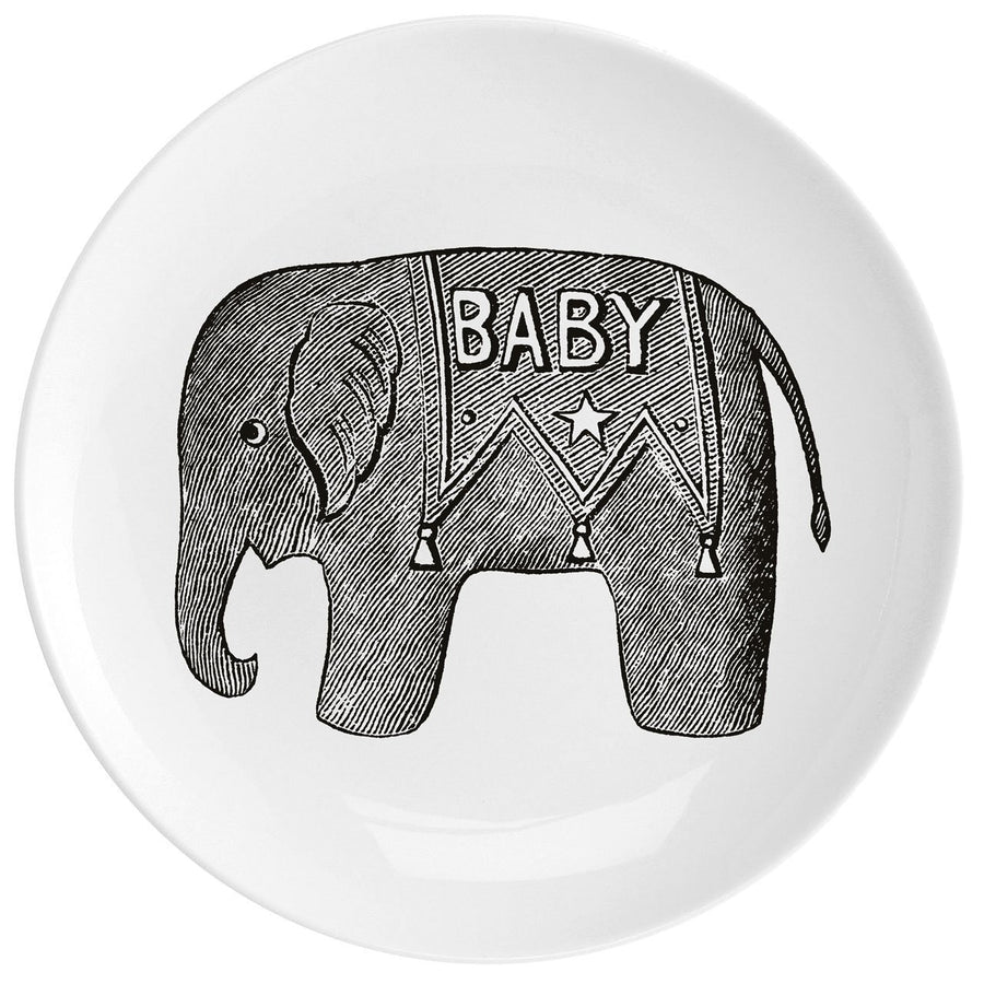 "Baby Elephant Fine China 10"" Plate - Chase and Wonder - Proudly Made in Britain"