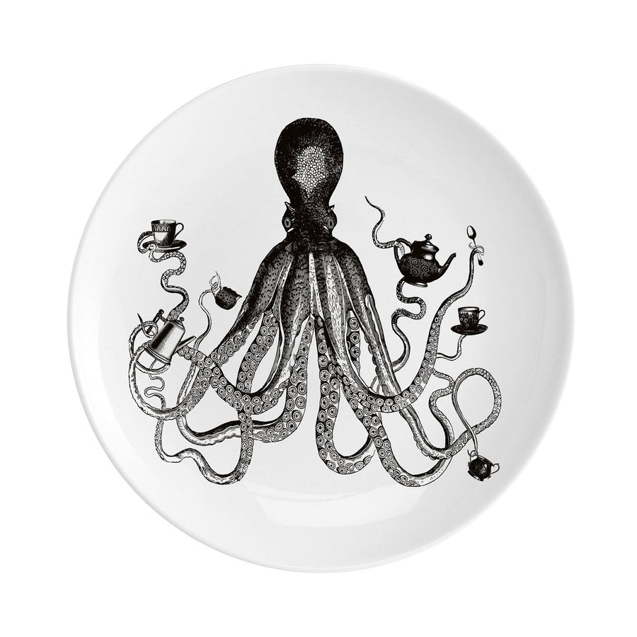 "Octopus for Tea Fine China 8"" Plate"