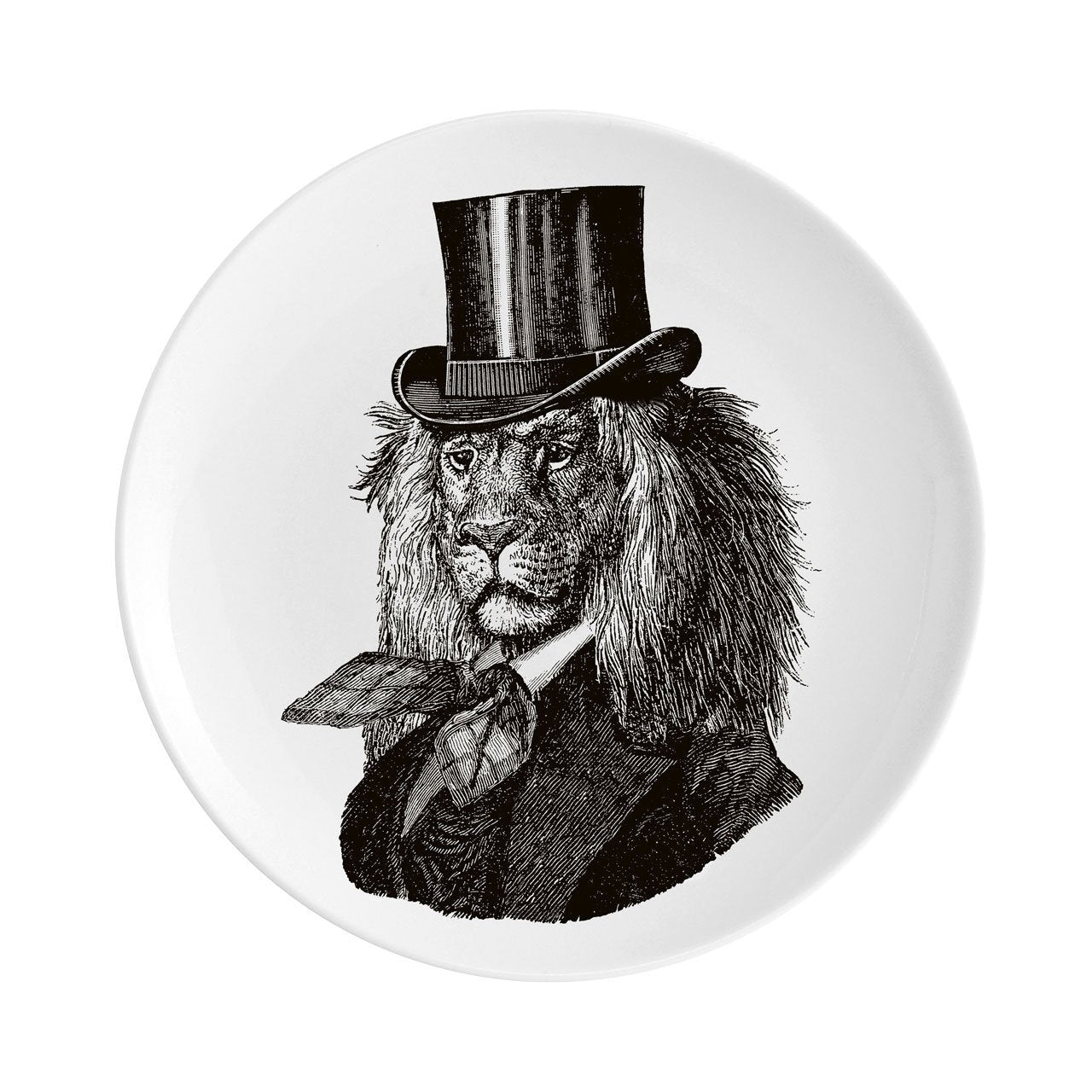 "Dandy Lion Fine China 8"" Plate - Chase and Wonder - Proudly Made in Britain"