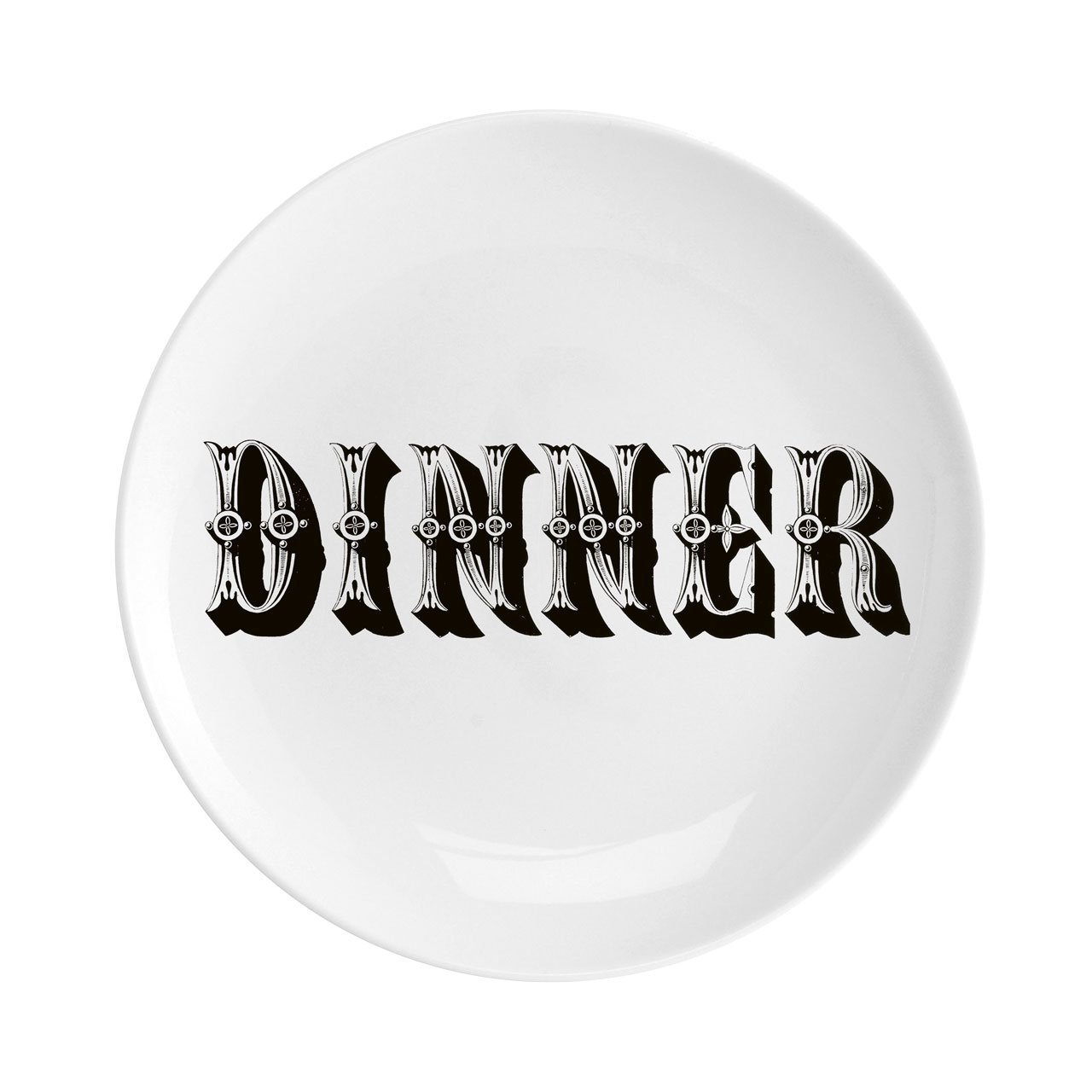 "Dinner Fine China 8"" Plate - Chase and Wonder - Proudly Made in Britain"