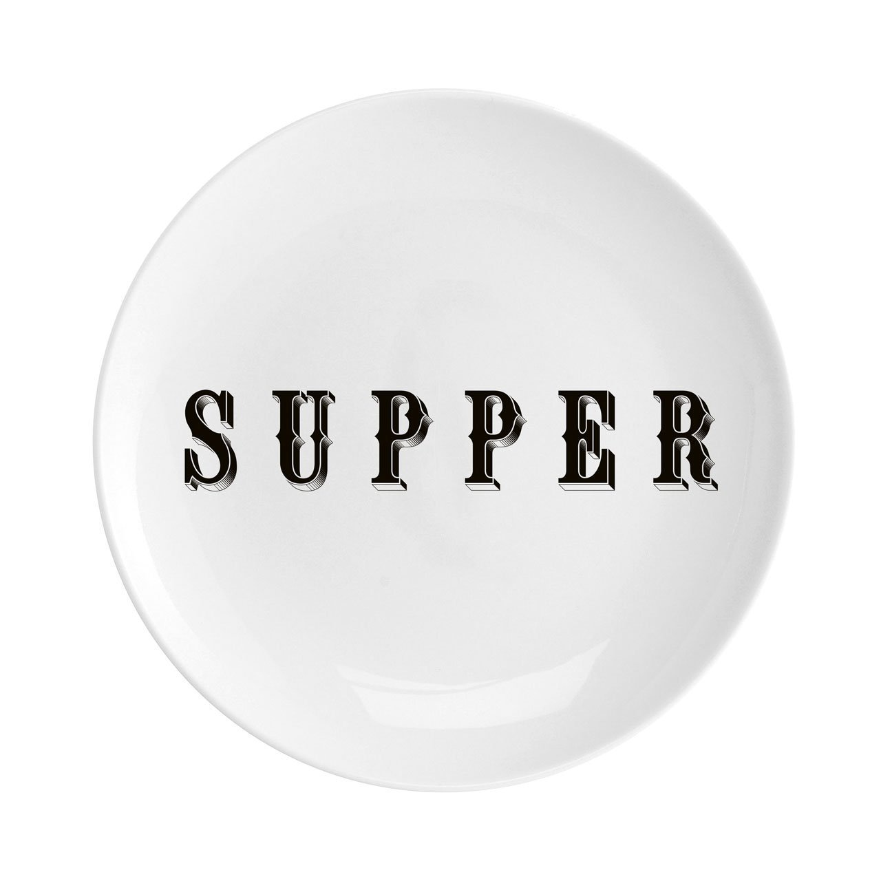 "Supper Fine China 8"" Plate - Chase and Wonder - Proudly Made in Britain"