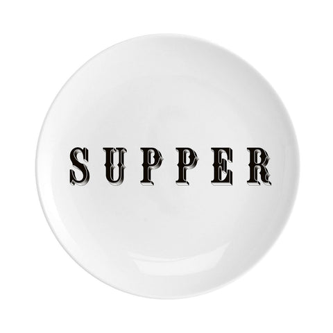 "Supper Fine China 8"" Plate"