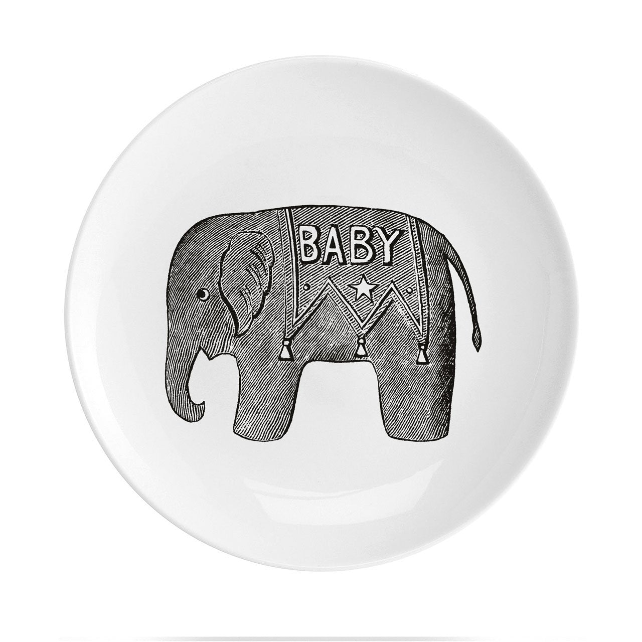 "Baby Elephant Fine China 8"" Plate - Chase and Wonder - Proudly Made in Britain"