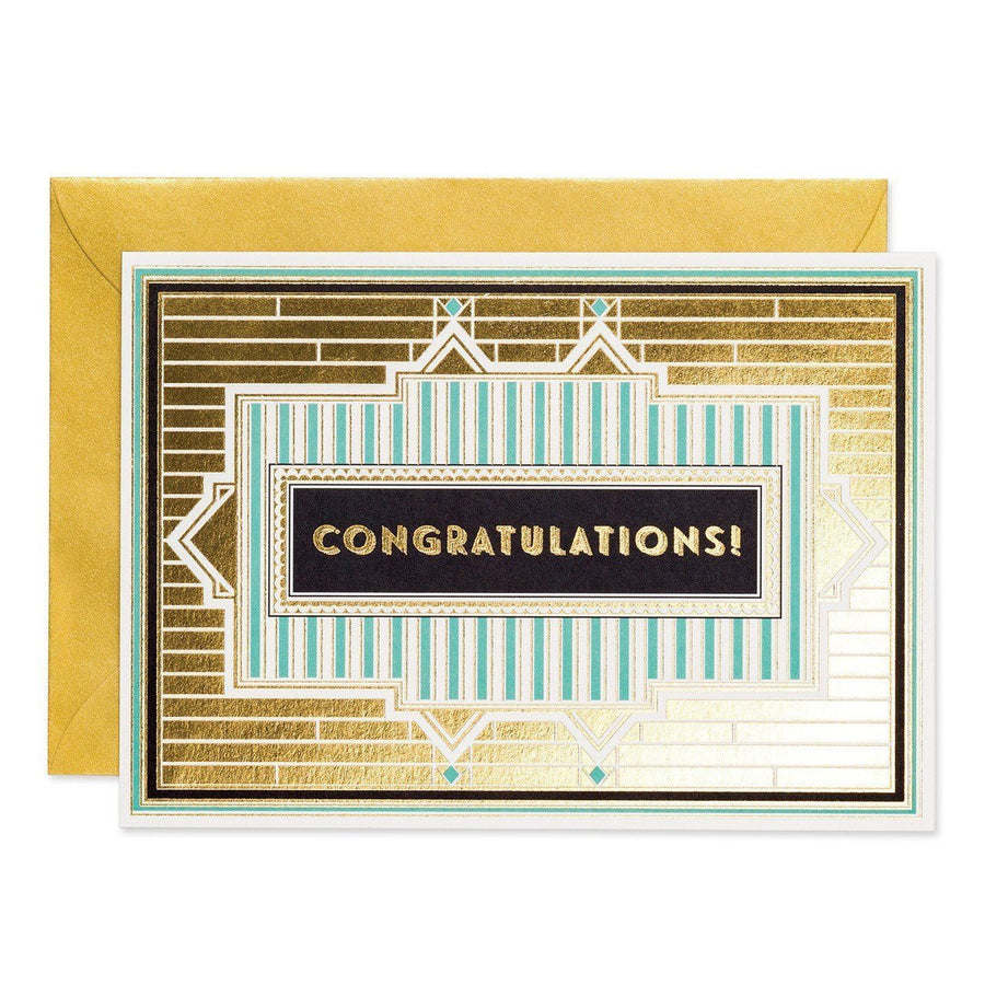 Congratulations - Art Deco greeting card - Chase and Wonder - Proudly Made in Britain