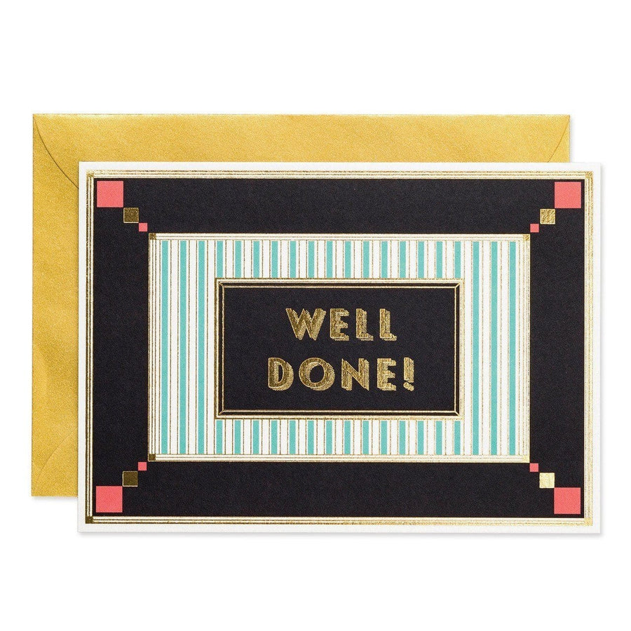 Well Done - Art Deco greeting card - Chase and Wonder - Proudly Made in Britain