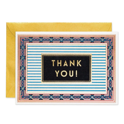 Thank You - Art Deco greeting card - Chase and Wonder - Proudly Made in Britain