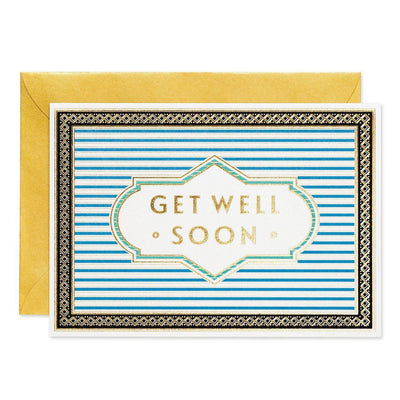 Get Well Soon- Art Deco greeting card - Chase and Wonder - Proudly Made in Britain