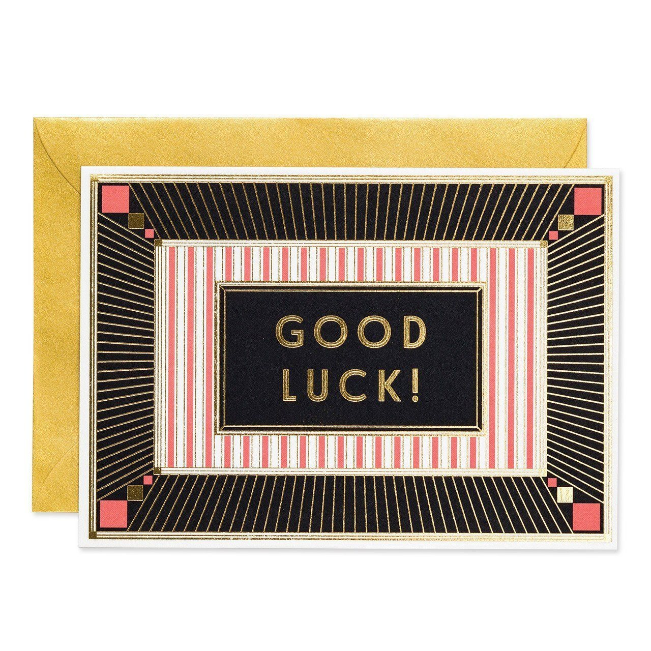 Good luck - Art Deco greeting card - Chase and Wonder - Proudly Made in Britain