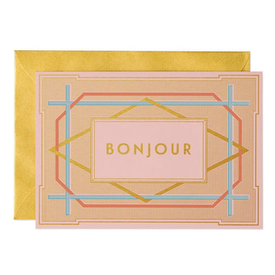 Bonjour - Art Deco greeting card - Chase and Wonder - Proudly Made in Britain