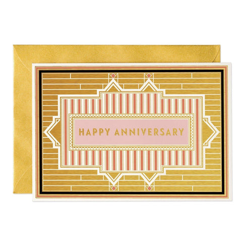 Happy Anniversary - Art Deco greeting card