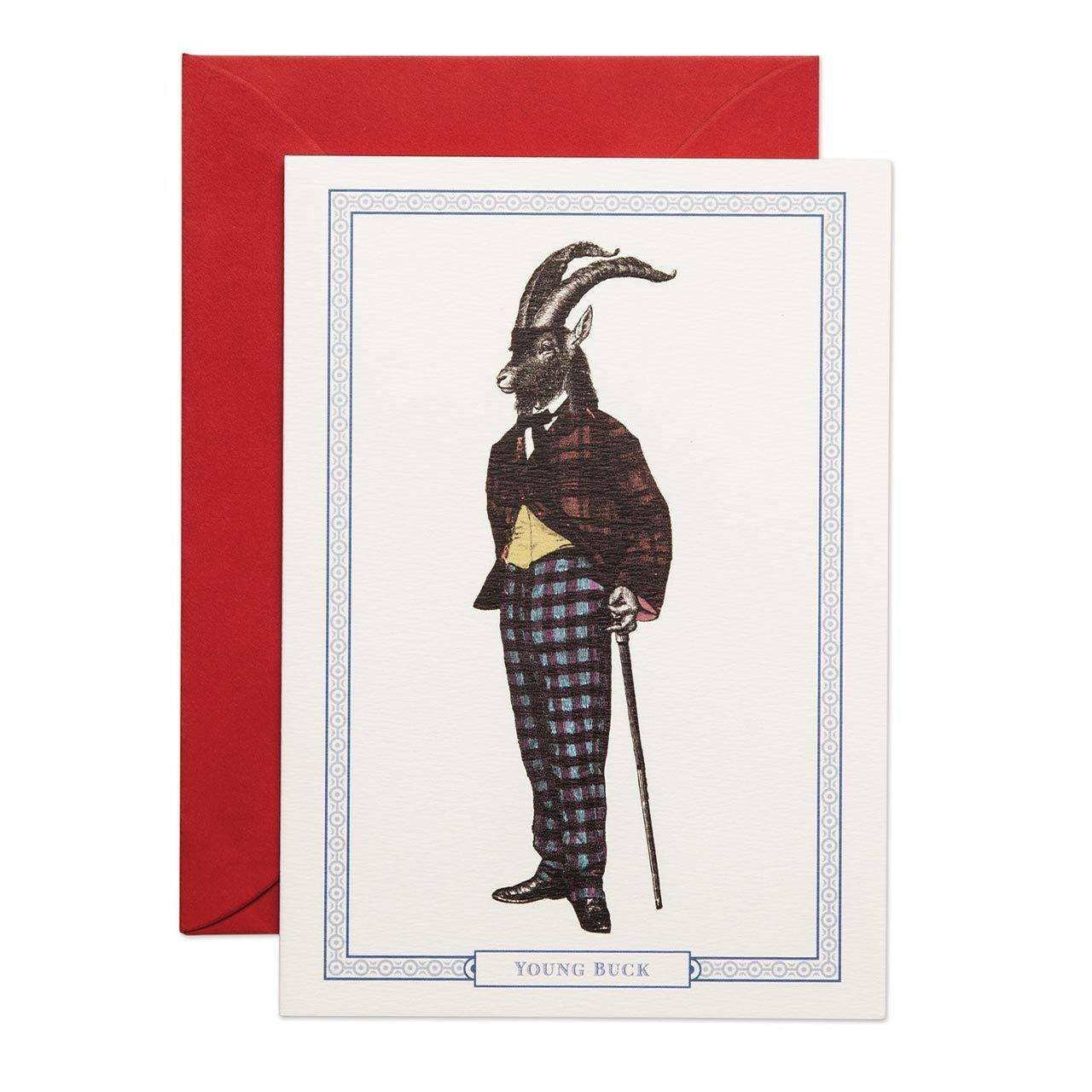 Young Buck Greeting Card Greeting Card - Chase and Wonder - Proudly Made in Britain