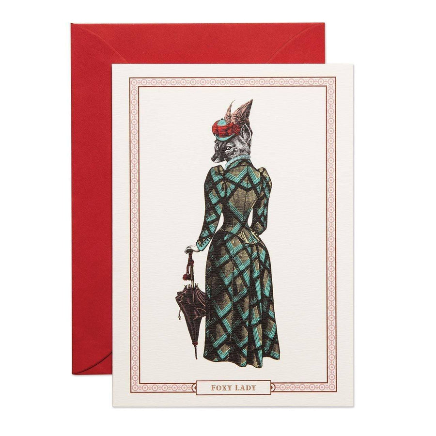 Foxy Lady Greeting Card - Chase and Wonder - Proudly Made in Britain