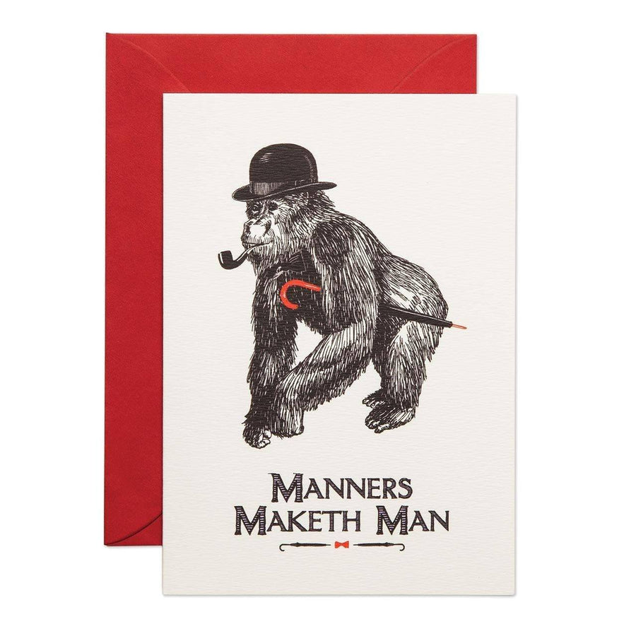 Manners Maketh Man Greeting Card - Chase and Wonder - Proudly Made in Britain