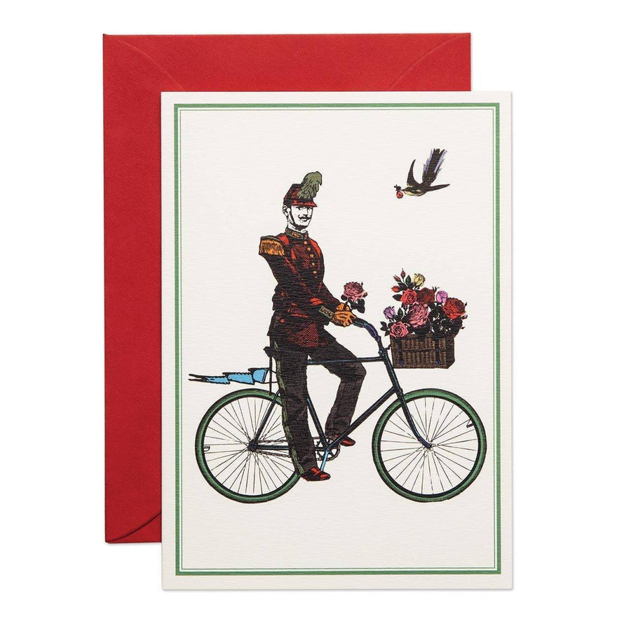 Flower Cyclist Greeting Card - Chase and Wonder - Proudly Made in Britain