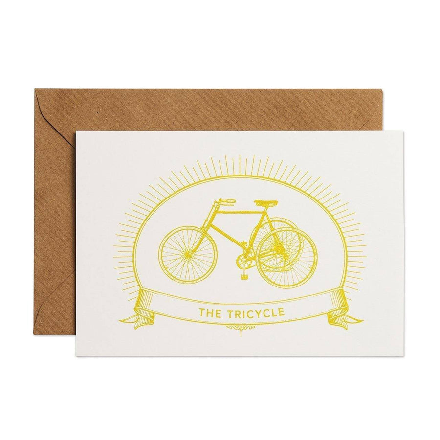The Tricycle Greeting Card - Chase and Wonder - Proudly Made in Britain
