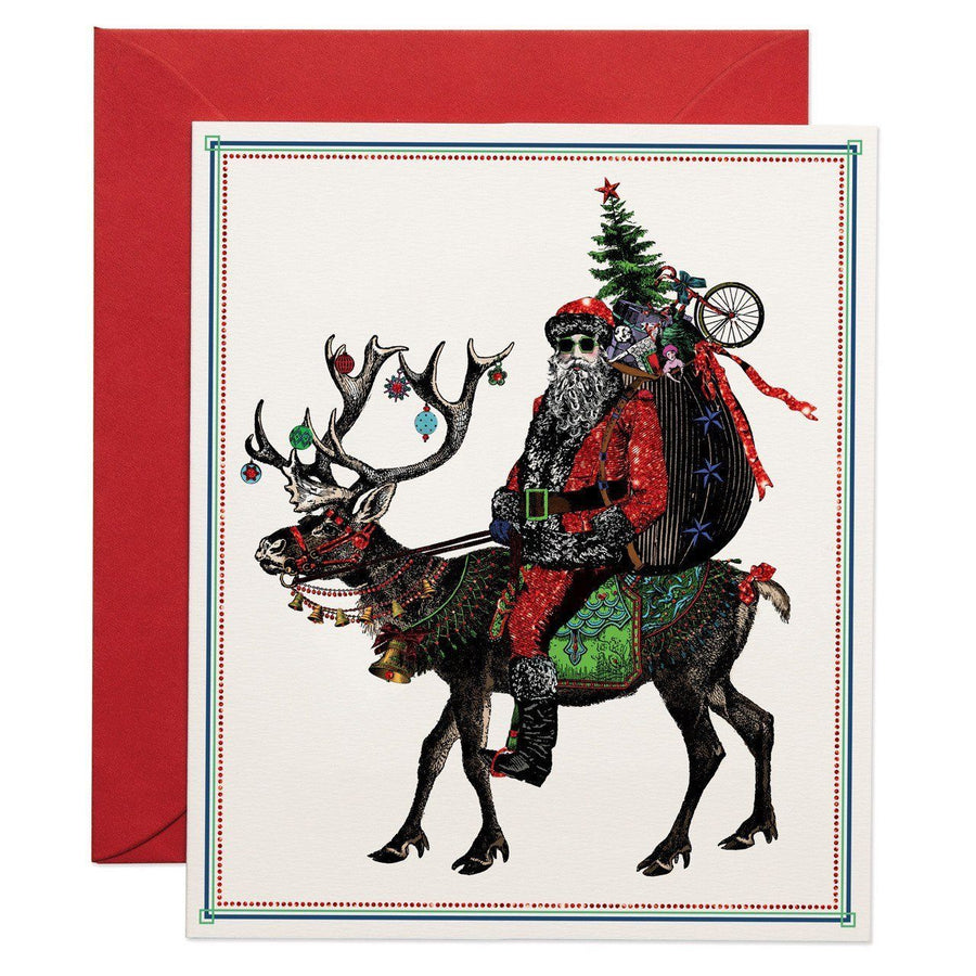 Santa Claus Rides greeting card - Chase and Wonder - Proudly Made in Britain