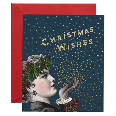 Christmas Wishes greeting card - Chase and Wonder - Proudly Made in Britain