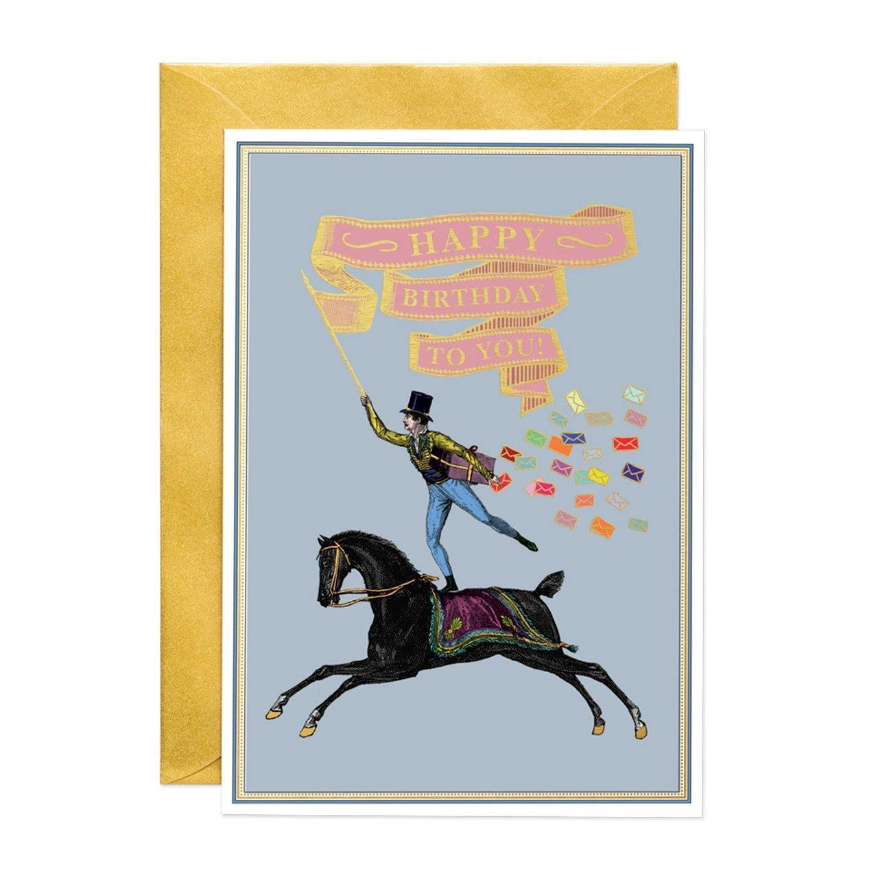 Happy Birthday Rider (LARGE) Greeting Card - Chase and Wonder - Proudly Made in Britain