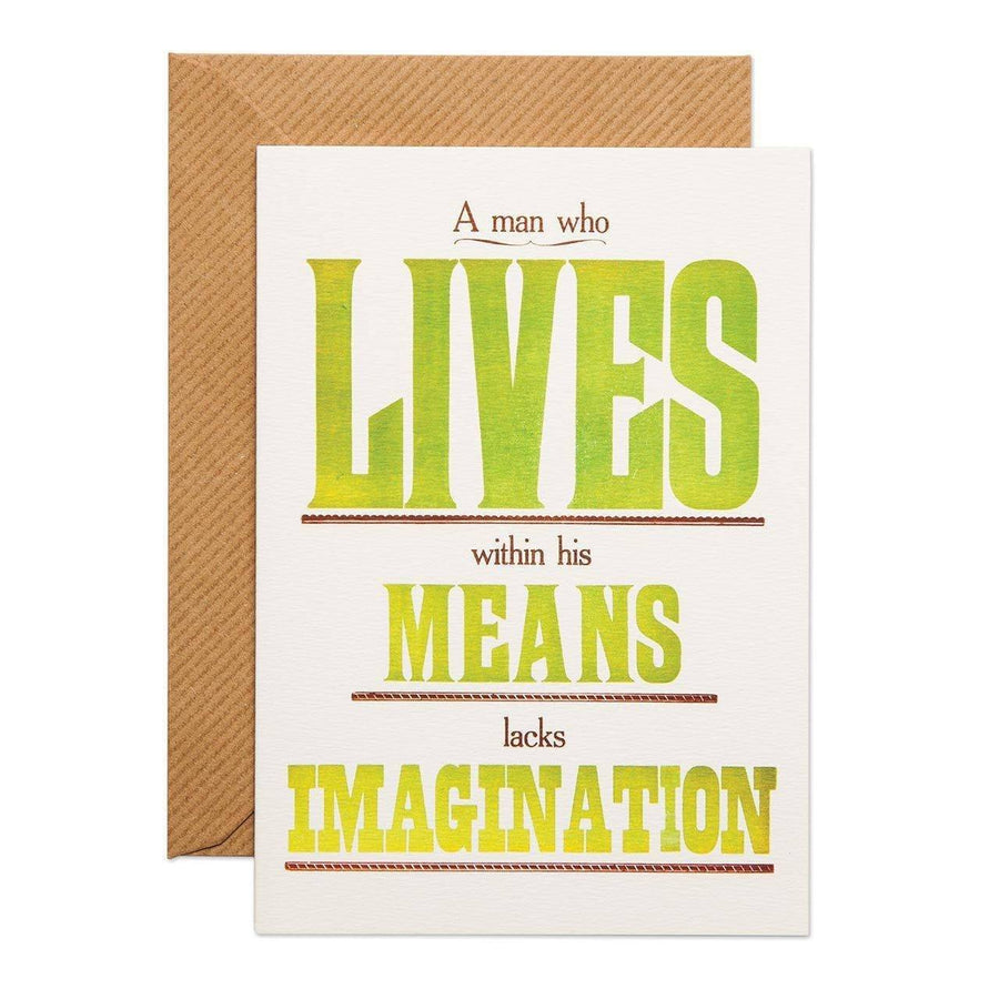 A Man Who Lives Greeting Card - Chase and Wonder - Proudly Made in Britain