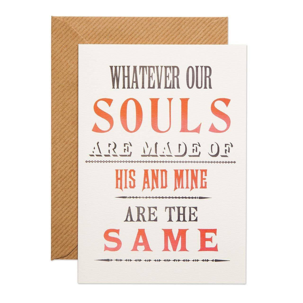 His and Mine Greeting Card - Chase and Wonder - Proudly Made in Britain