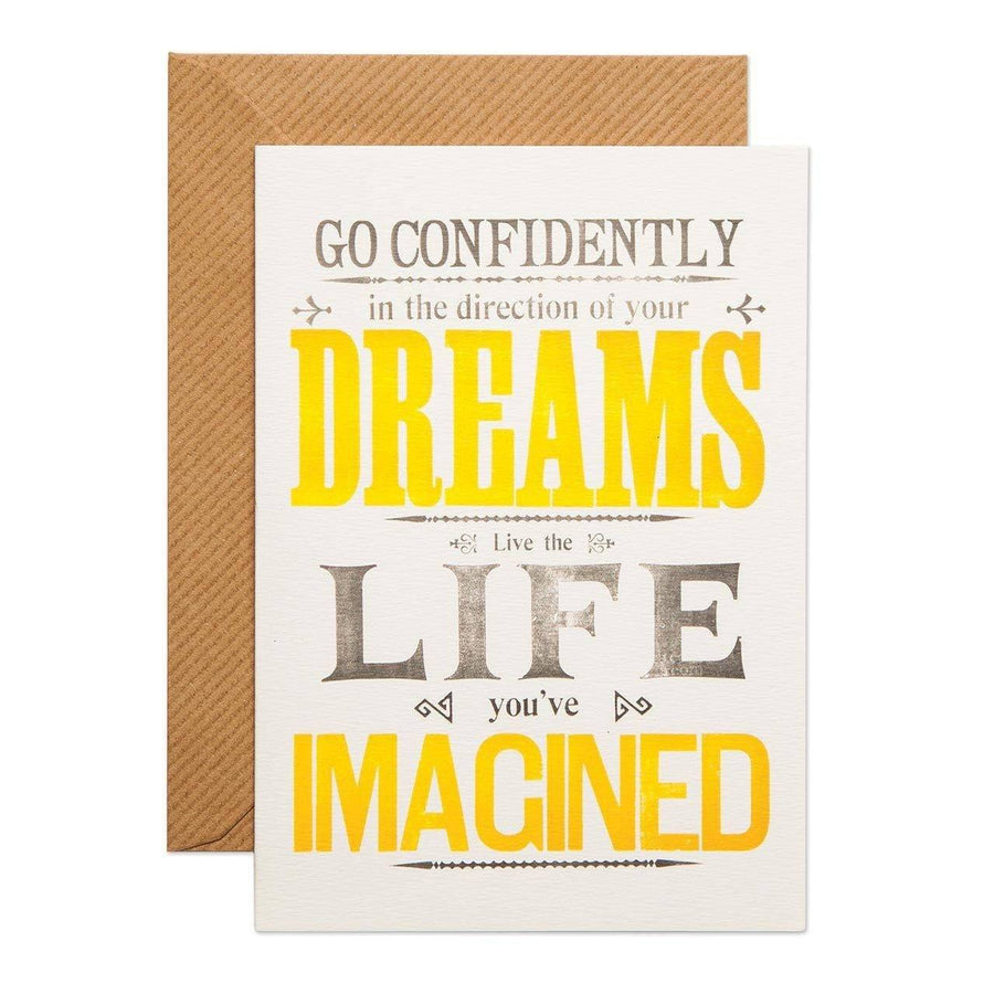 Go Confidently Greeting Card - Chase and Wonder - Proudly Made in Britain