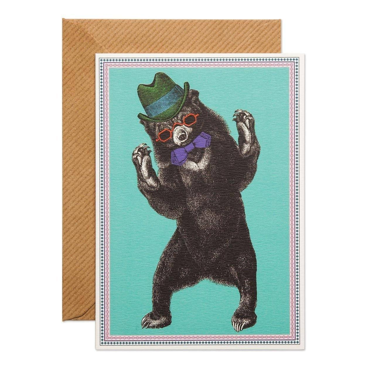 Party Bear Greeting Card - Chase and Wonder - Proudly Made in Britain