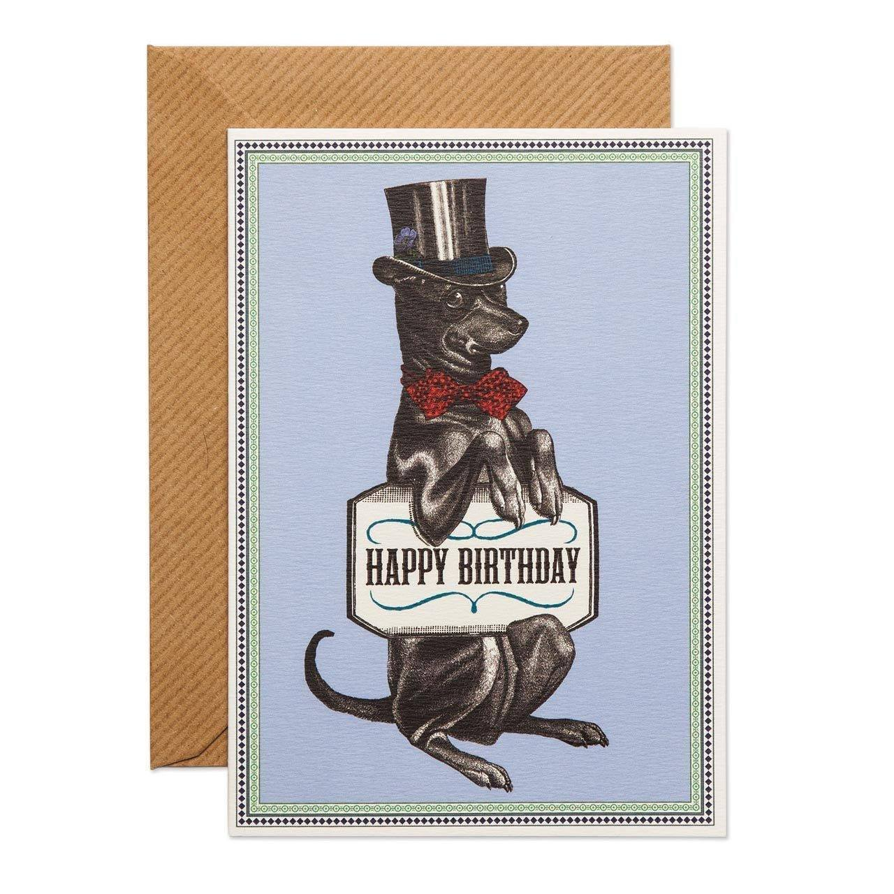 Happy Birthday Hound Greeting Card - Chase and Wonder - Proudly Made in Britain